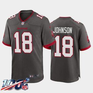 Tampa Bay Buccaneers Tyler Johnson Gray Jersey